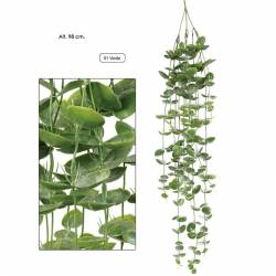 Planta artificial colgante evergreen de plastico 098