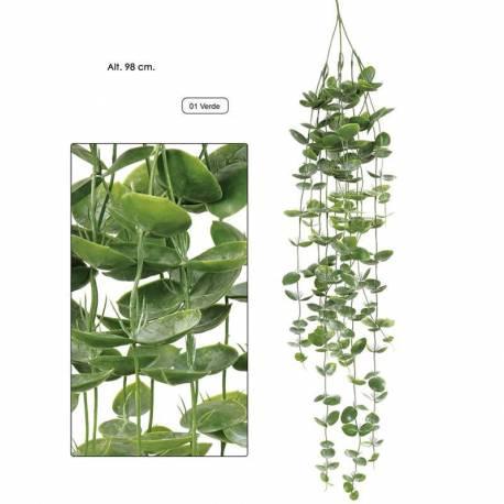 Planta artificial colgante evergreen de plastico 098
