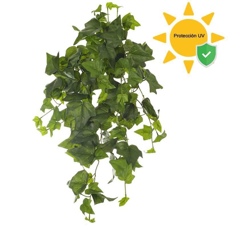 Planta colgante hiedra artificial exterior proteccion uv for Plantas artificiales para exterior