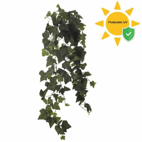 Planta colgante hiedra artificial proteccion UV 100