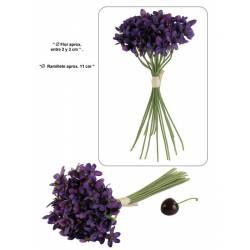 Atado violetas artificiales