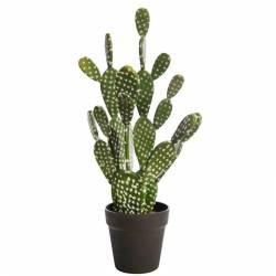 Cactus artificial opuntia con maceta 056
