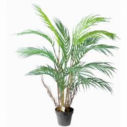 Pequeña palmera areca artificial con maceta 070