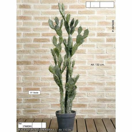 Cactus artificial Opuntia Tomentosa amb test 132