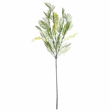 Rama mimosa artificial con hojas