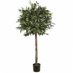 Ficus artificial bola con troncos naturales 140
