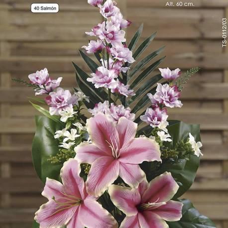 Ram flors artificials cementeri lilium i delphinium