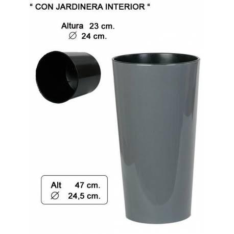 Macetero (cubremacetas) alto redondo 047