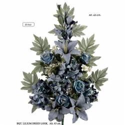 Ramo flores artificiales cementerio lilium tonos envejecidos