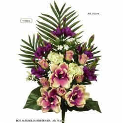 Ramo grande flores artificiales cementerio magnolias y hortensias