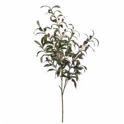 Rama olivo artificial con aceitunas de plastico