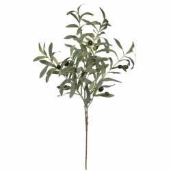 Rama artificial de olivo con aceitunas de plastico 080