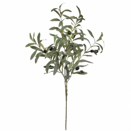 Rama olivo artificial con aceitunas de plastico 080