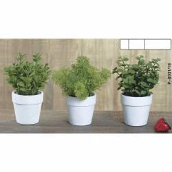 Pequeñas plantas aromaticas artificiales en maceta conjunto de 3