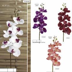 Flor orquidia Phalaenopsis artificial 087
