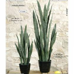 Planta sanseviera artificial varias medidas verde
