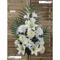 Ramo flores artificiales cementerio lily y gerbera