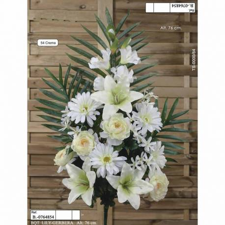 Ram flors artificials cementeri lily i gerbera