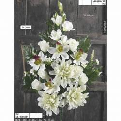 Ramo flores artificiales cementerio dalias y orquideas