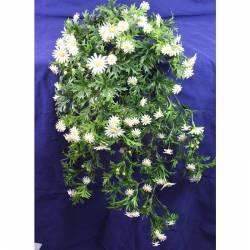Planta colgante de plastico margaritas artificiales