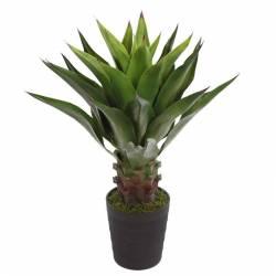 Planta agave artificial con maceta 085