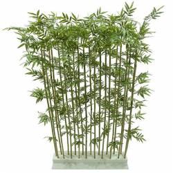 Seto artificial bambu plastico cañas naturales