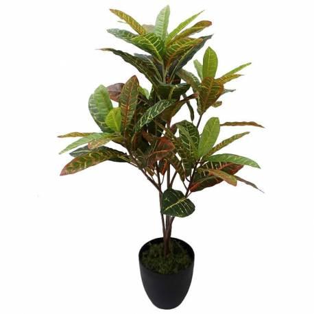 Planta artificial croton con maceta 075