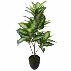 Planta artificial dieffenbachia con maceta 075