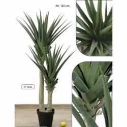 Planta artificial agave dos troncos