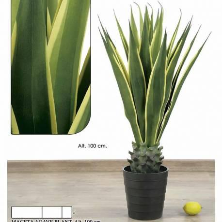 Planta artificial agave variegata 100