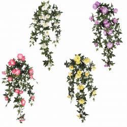 Plantes artificials que penejen petunies