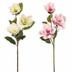 Vara magnolia artificial tres flores 095
