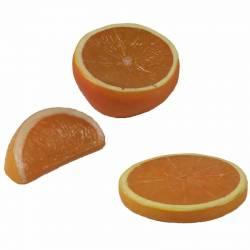 Naranja artificial cortada