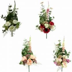 Ramo cementerio flores artificiales rosas