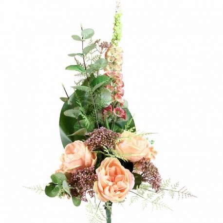 Ram cementeri flors artificials roses