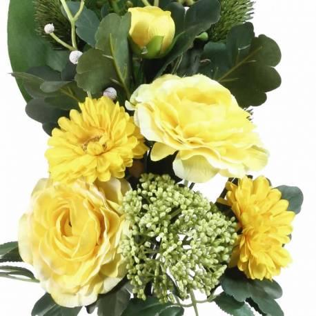 Ramo flores artificiales cementerio ranunculos