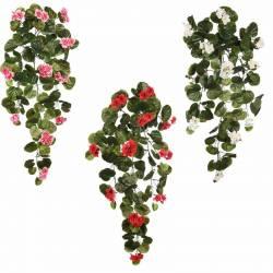Planta geranio artificial colgante gama economica