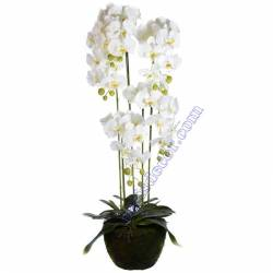 Orquideas artificiales phalaenopsis con maceta 125