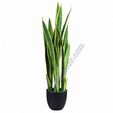 Planta artificial sansevieria en maceta 090