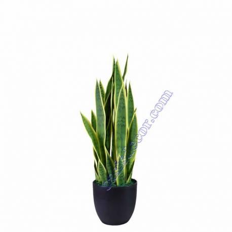 Planta sansevieria artificial en maceta 070