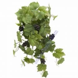 Parra artificial colgante con uvas de plastico