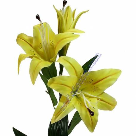 Lilium artificial con 2 flores