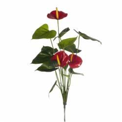 Anthurium artificial rojo