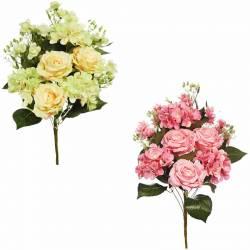 Ram flors artificials cementeri roses i hortensies