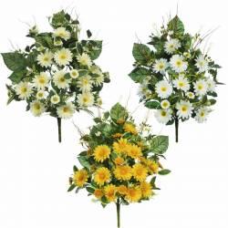 Ramo flores artificiales cementerio margaritas