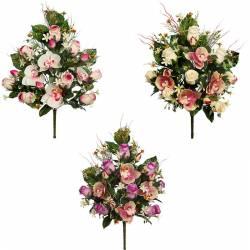 Ramo cementerio flores artificiales orquideas y rosas