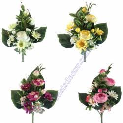 Ramo flores artificiales cementerio rosas cabbage