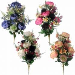 Ramo flores artificiales cementerio peonias