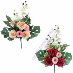 Ram cementeri flors artificials roses margarides orquidies