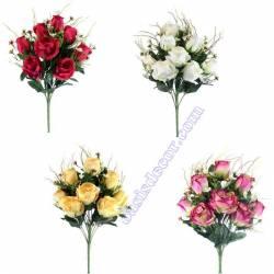 Ramo cementerio flores artificiales rosas hypericum